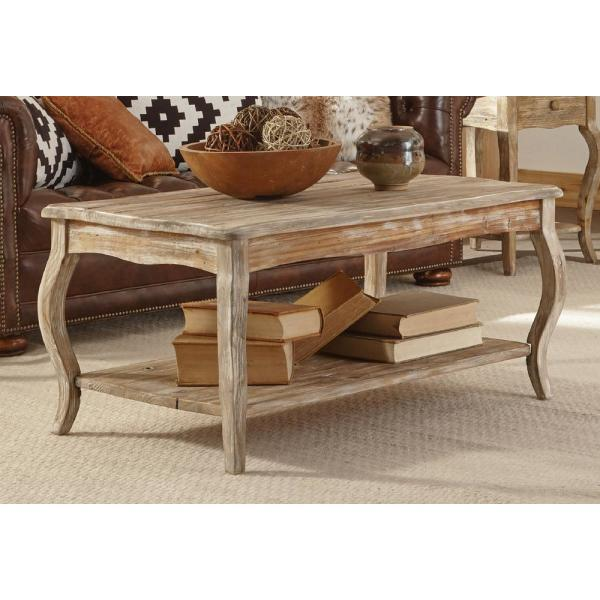 Alaterre Furniture Rustic Driftwood Coffee Table-ARSA1125 - The .