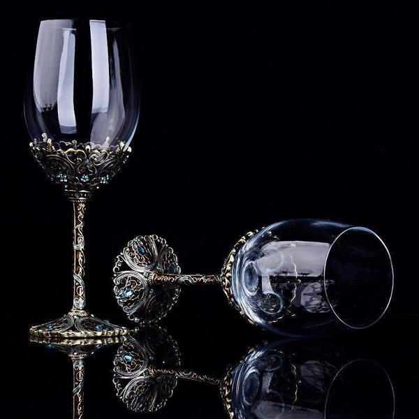 Royal Luxury Wine Set | UDARELY Glassware, Drinkware, Cocktail Glass