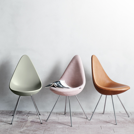 Arne Jacobsen's iconic Drop chair to be reintroduced by Fritz Hans