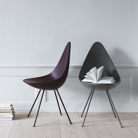 Fritz Hansen – Drop chair plastic shell – design Arne Jacobs