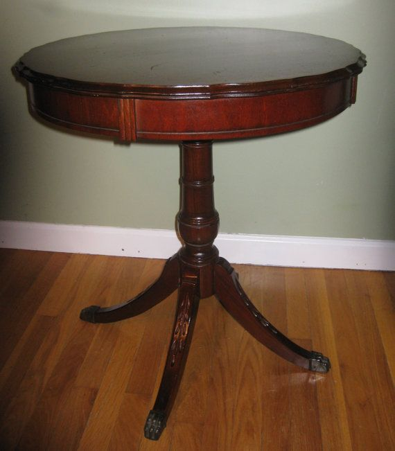 Items similar to Mahogany Duncan Phyfe Style Lamp Table, with .