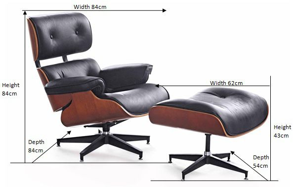 Replica of Eames Lounge Chair and Ottoman | Eames lounge, Eames .