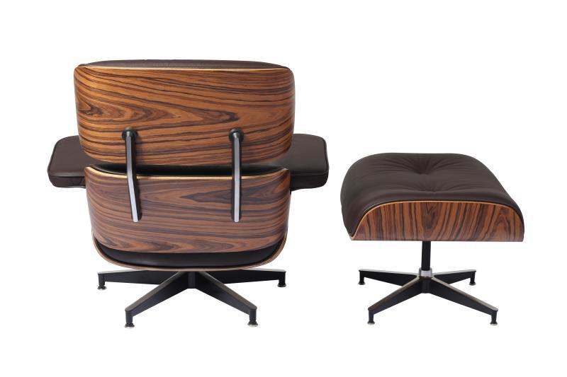 Charles Eames Lounge Chair And Ottoman Replica Rose Wood – DECOMI