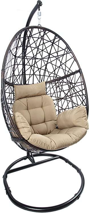 Amazon.com: Luckyberry Egg Chair Outdoor Indoor Wicker Tear Drop .
