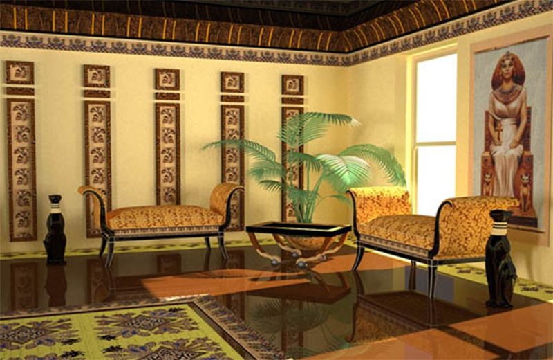 Egyptian Style, Modern Room Decorating Ideas | Egyptian home decor .