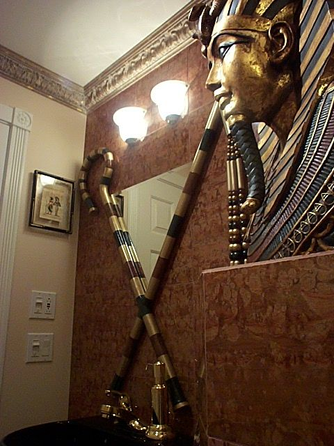 Egyptian 1/2 bathroom | Egyptian home decor, Egyptian decorations .