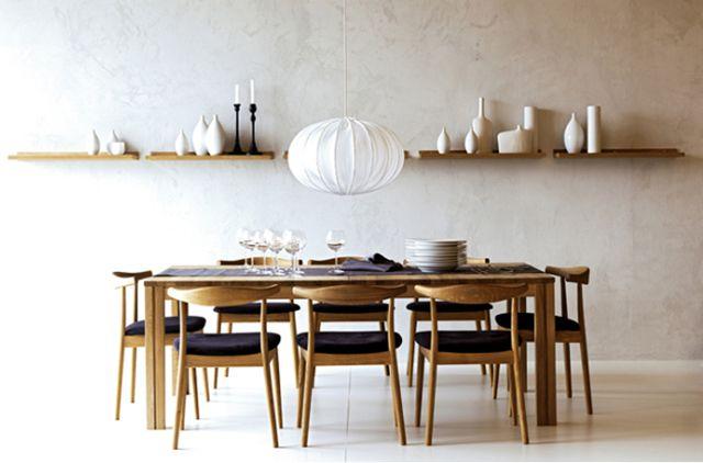 Wegner Style Elbow Chair   Minimalist dining room, Retro dining .
