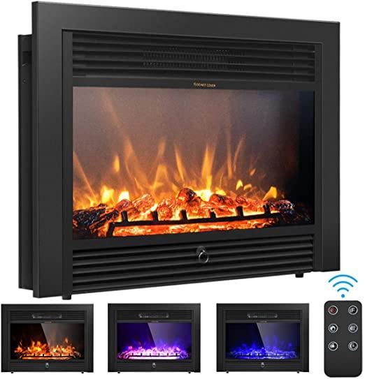 "Amazon.com: Giantex 28.5"" Electric Fireplace Insert Recessed ."