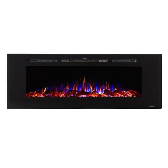 Touchstone 60-in W Black Fan-forced Electric Fireplace in the .