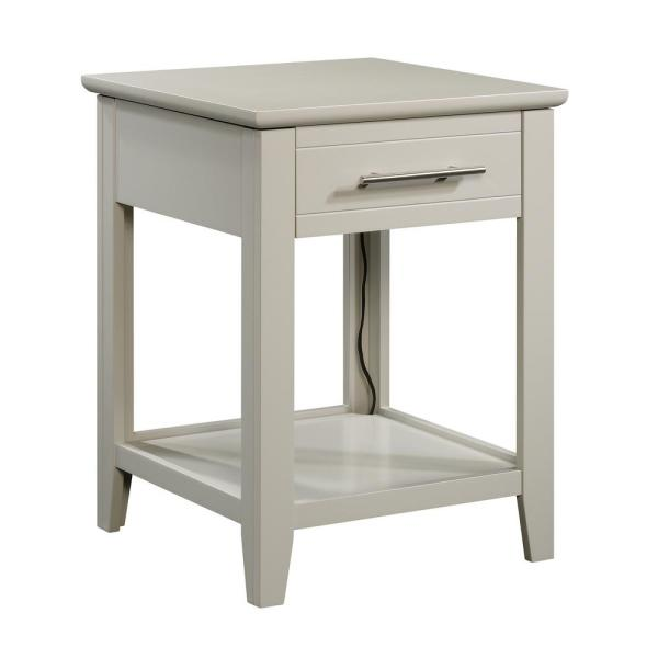 SAUDER Adept Cobblestone Smart Center End/Side Table-423269 - The .