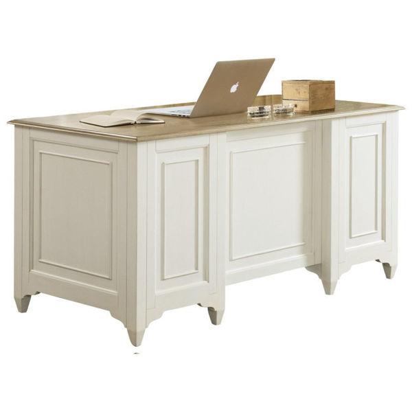 Myra White Executive Desk by Riverside Furniture | Babette's .