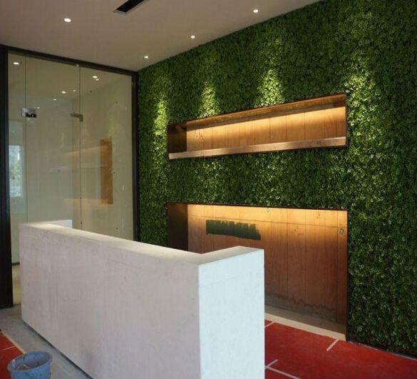Fake artificial grass wall decor for modern wall decor .