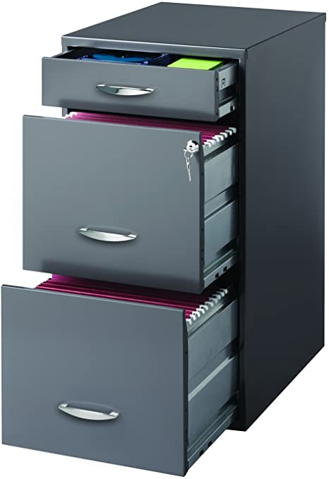 Amazon.com: Hirsh SOHO 3 Drawer File Cabinet in Charcoal: Home .