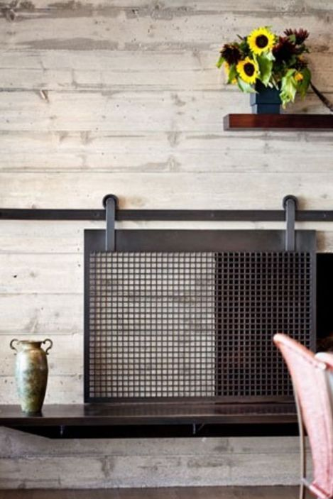 How to Make a Barn Door Style Fireplace Screen | Designertrapped .