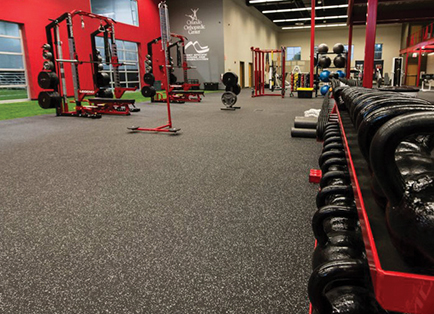 Rubber Fitness Flooring Installation | Play On Cour