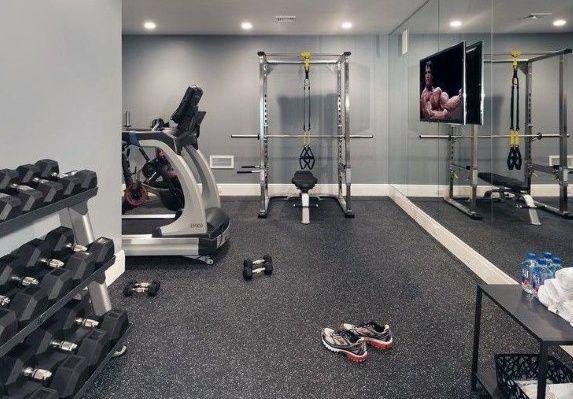 Top 40 Best Home Gym Floor Ideas - Fitness Room Flooring Designs .