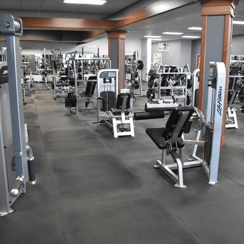 4x6 Ft Fitness - 1/2 Inch Gym Floor Mat Bla