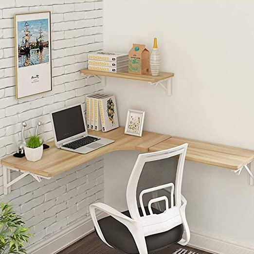 Amazon.com: SjYsXm-Floating shelf Corner Computer Table Wall Table .