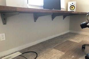 New floating desk | Floating desk, Diy office desk, Home office desi