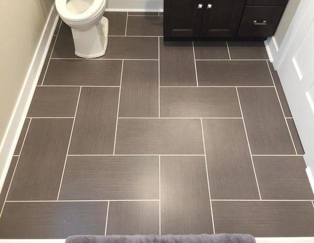 Bathroom floor tile - Yale Ceniza Porcelain Floor Tile - 12 x 24 .