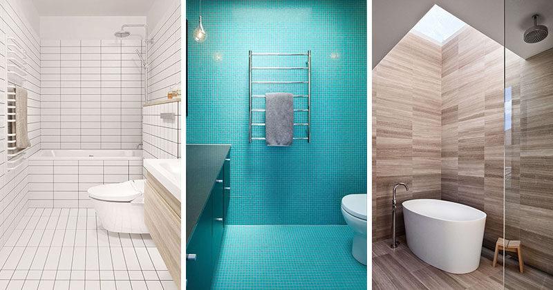 Bathroom Tile Idea - Use The Same Tile On The Floors And The Wal