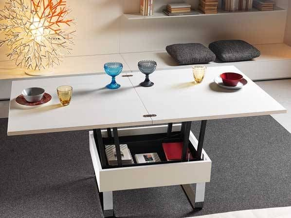 Fold Out Coffee Table Transforming To Dining Table | Convertible .