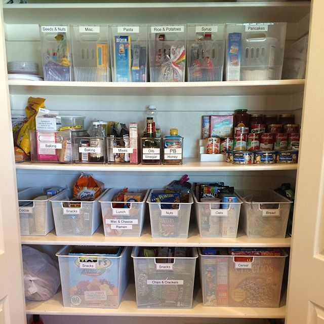 pantry organizing! First tip: Declutter and then categorize your .