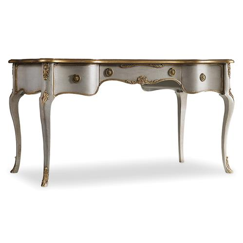 Babel French Country Gold Accent Writing Desk | Kathy Kuo Ho