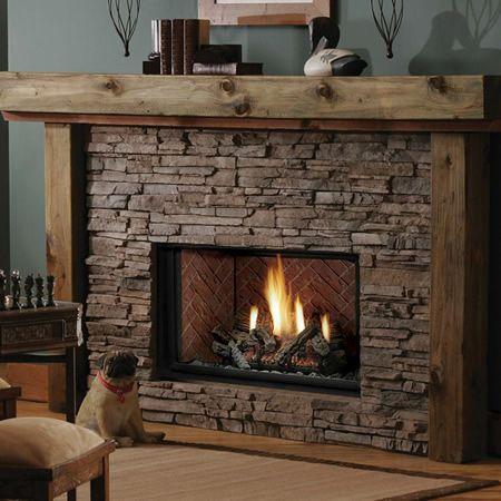 Kingsman HBZDV3628 Zero Clearance Direct Vent Gas Fireplace - 36 .