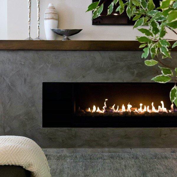 Top 50 Best Gas Fireplace Designs - Modern Hearth Ide