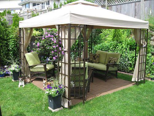 Cool-Backyard-Ideas-with-Gazebo | Backyard gazebo, Small backyard .