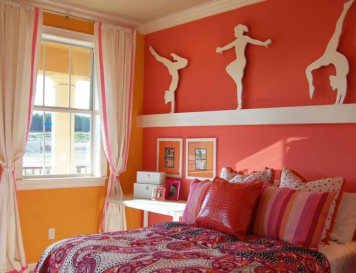 Gymnastics Girls Room - Children's - Bedroom - Photos by .