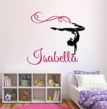 Amazon.com: Custom Gymnastics Name Wall Decals - Girls Kids Room .