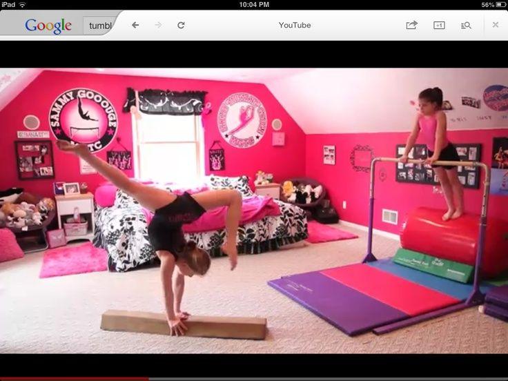 gymnastics room decor - Google Search   Gymnastics room .