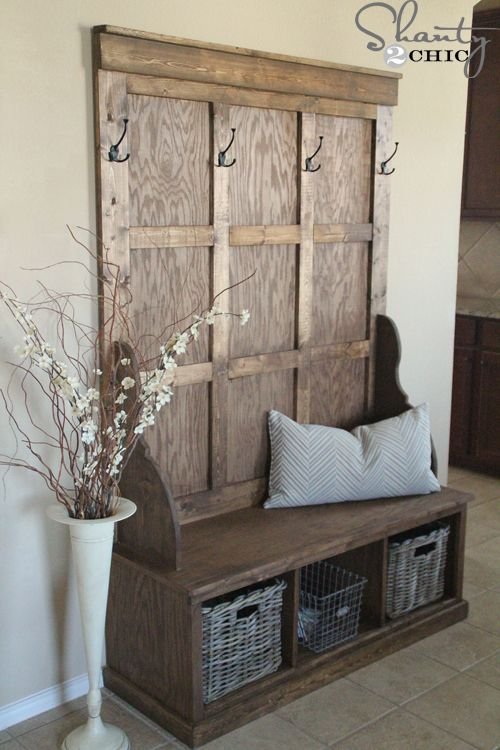21 Great DIY Furniture Ideas for Your Home   Diy entryway bench .