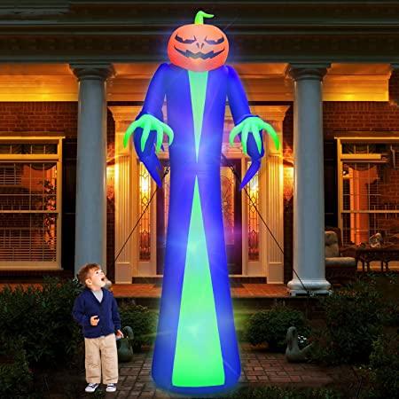 Amazon.com: 12Ft Giant Halloween Inflatables Pumpkin Ghost .