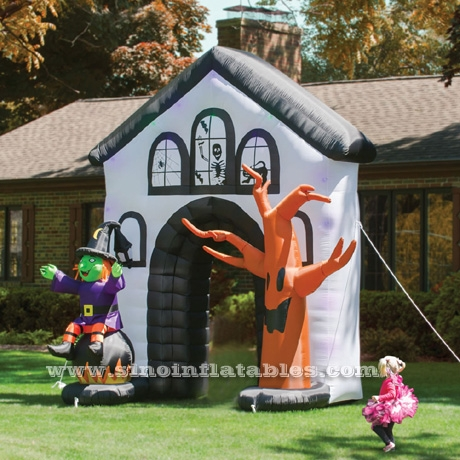 Outdoor big airblown Halloween inflatable Haunted House Archway .