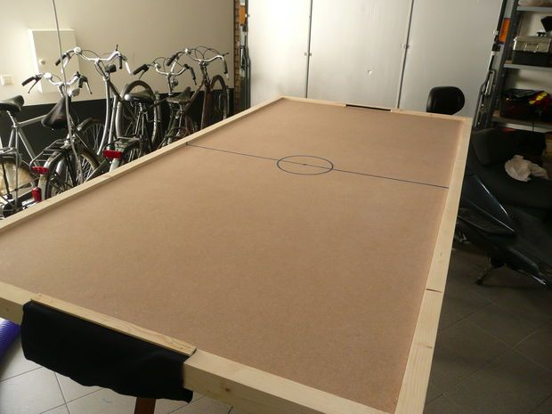 DIY Air Hockey Table | Air hockey, Diy pool table, Air hockey tab
