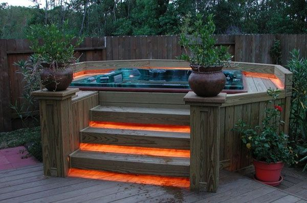 47 Irresistible hot tub spa designs for your backyard | Hot tub .