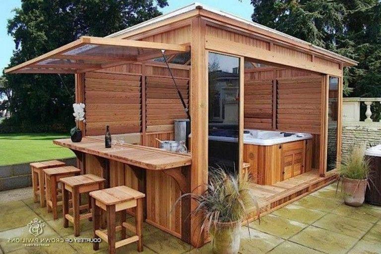 32 Beautiful Outdoor Hot Tub Privacy Ideas   Hot tub patio, Hot .