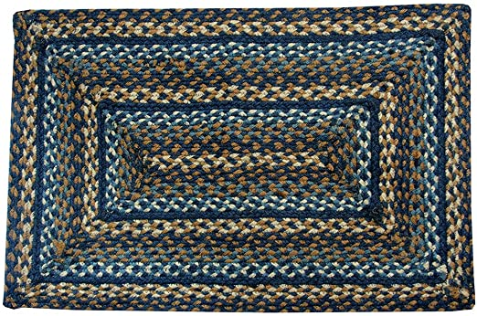 Amazon.com: IHF Home Decor Jute Braided Rug Denim | Rectangle .