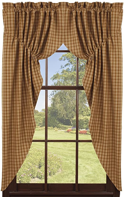 Amazon.com: IHF Home Decor Prairie Curtain Cambridge Mustard .