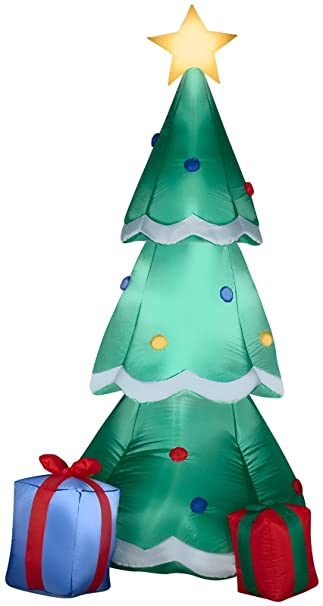 Amazon.com : Gemmy Airblown Inflatable Christmas Tree Decorated .