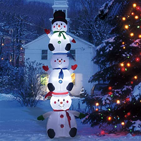 Amazon.com: Phoenixreal 10 Foot Christmas Inflatables Snowman, 3 .