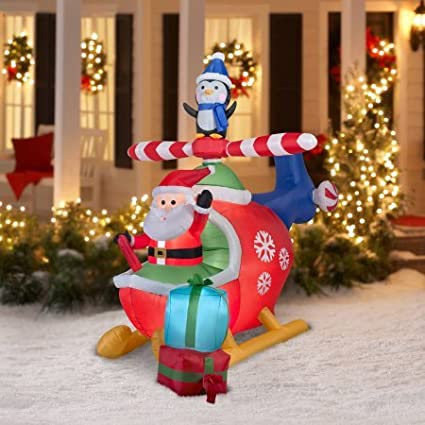 Amazon.com: Self Inflating Outdoor Christmas Decoration,Lights up .