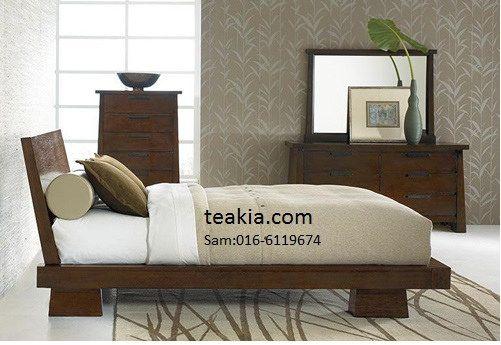 japanese bed frame-teak wood furniture malaysia-indoor furniture .