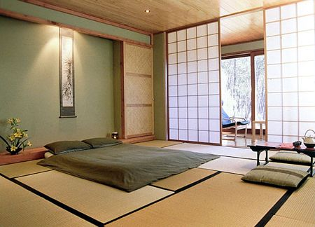 Japanese style Bedroom ---- how I would love to set up my spare .