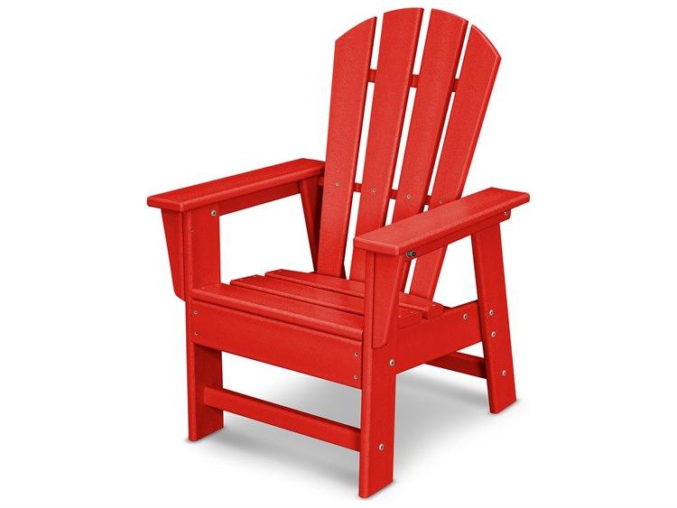 POLYWOOD® Kids Recycled Plastic Adirondack Chair | PWSBD