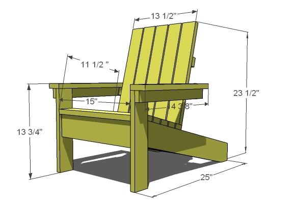 Kid's Adirondack Chair | Ana Whi