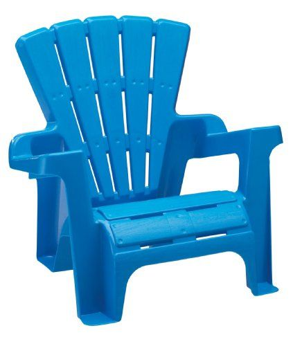 Kids Plastic Adirondack Chair | Blue adirondack chair, Plastic .